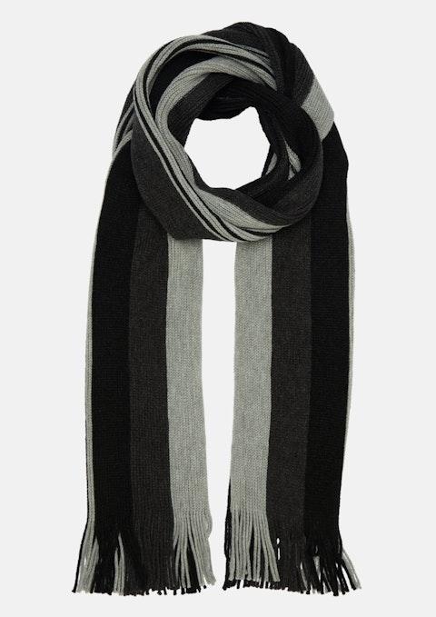 Black Kaden Stripe Scarf