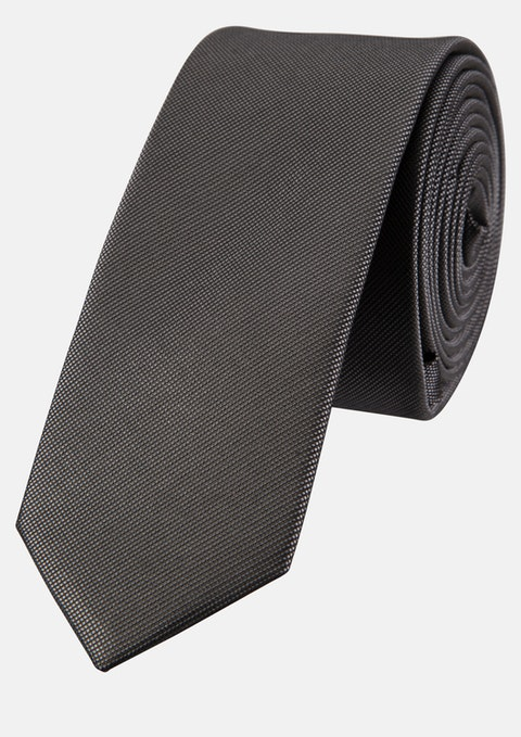 Charcoal Plain 5cm Tie
