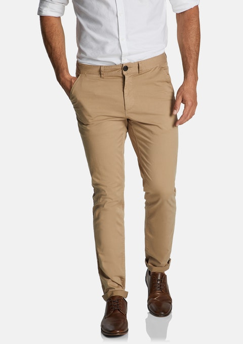 Tobacco Lochlan Stretch Tapered Chino