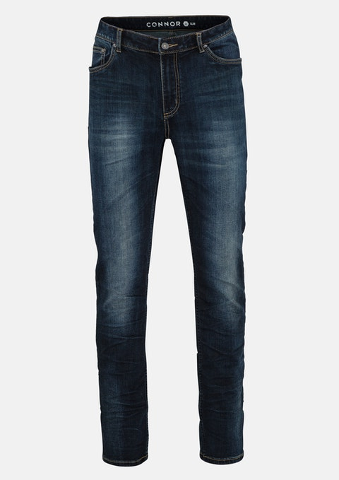 Dark Blue Garrison Slim Jean