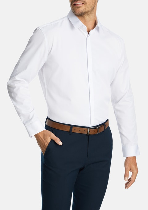 White Amherst Slim Dress Shirt