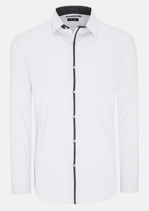 White Hester Slim Dress Shirt