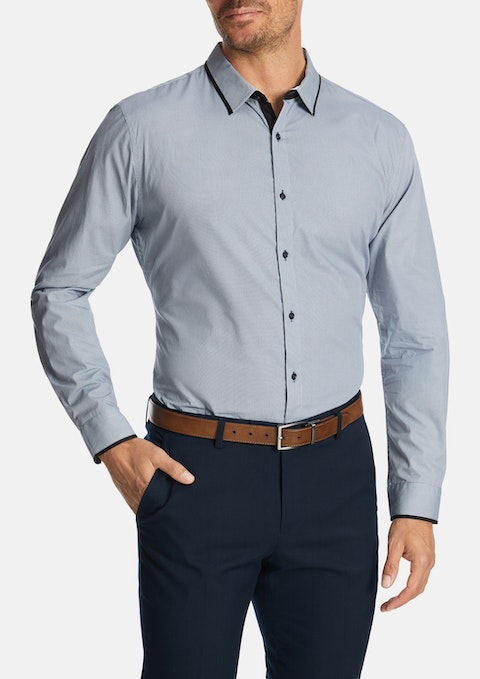 Navy Blount Slim Shirt