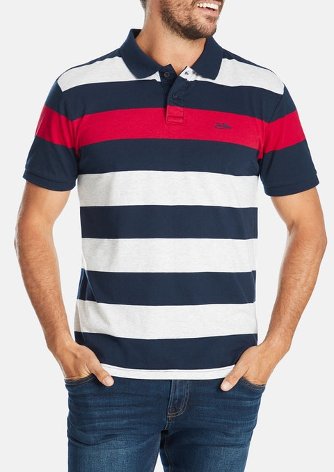 Navy Jamie Stripe Polo