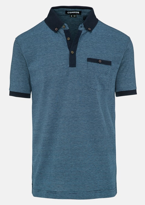 Navy Underwood Polo