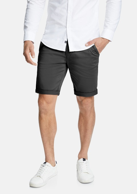 Charcoal Darwin Chino Stretch Short