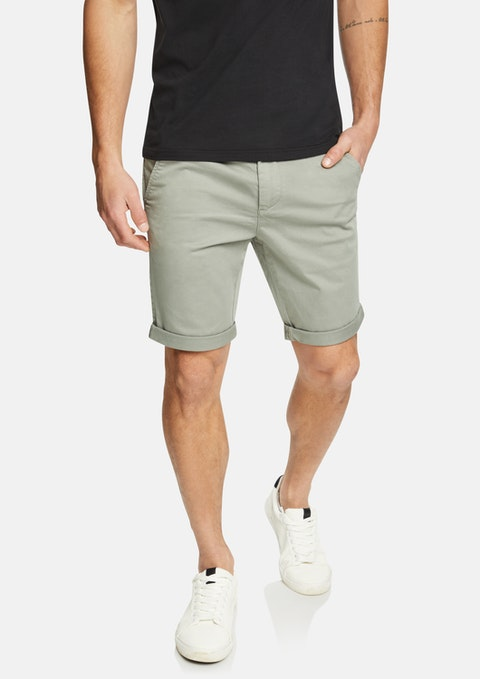 Green Darwin Chino Stretch Short