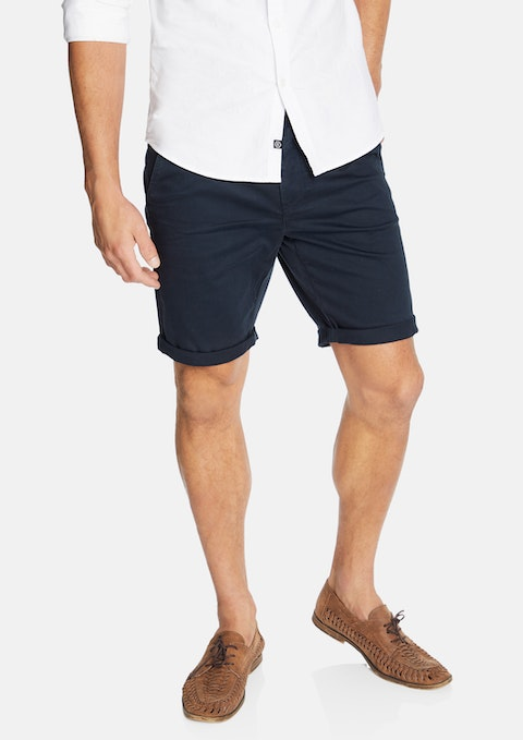 Navy Darwin Chino Stretch Short