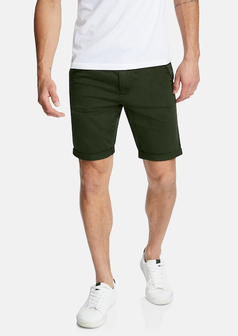 Olive Darwin Chino Stretch Short