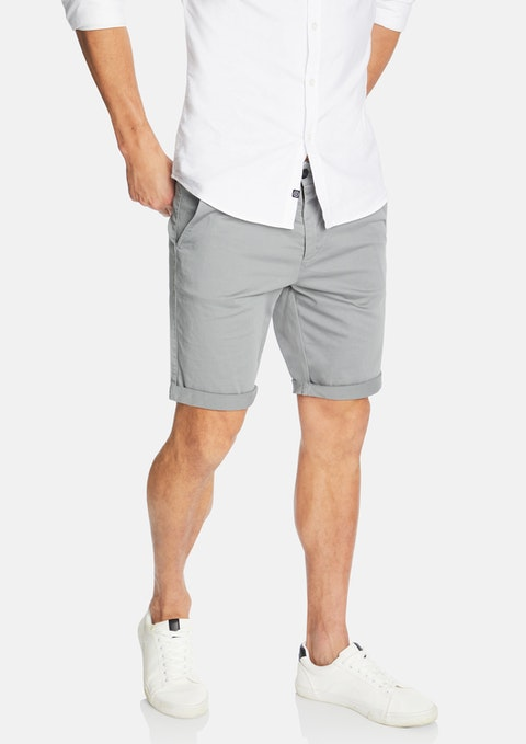 Pewter Darwin Chino Stretch Short