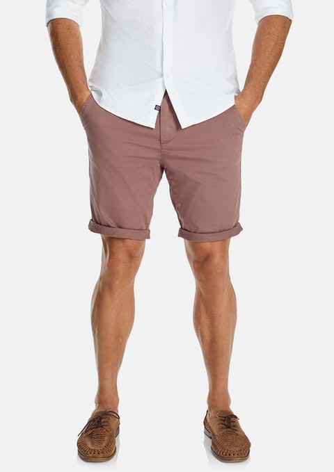 Pink Darwin Chino Stretch Short