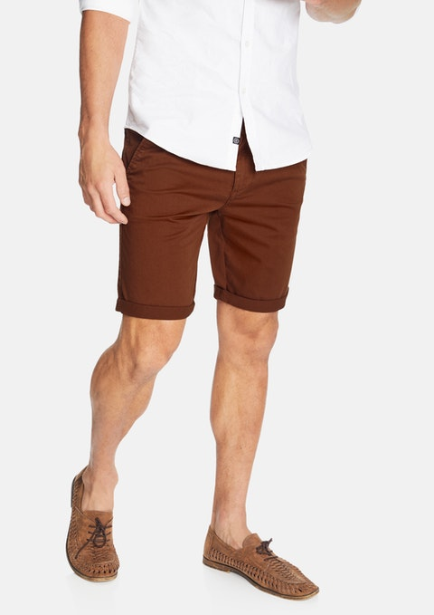 Rust Darwin Chino Stretch Short