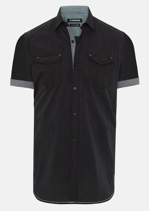 Charcoal Adar Stripe Shirt