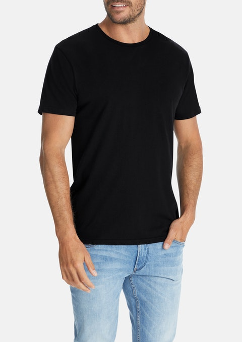 Black Essential Crew Tee