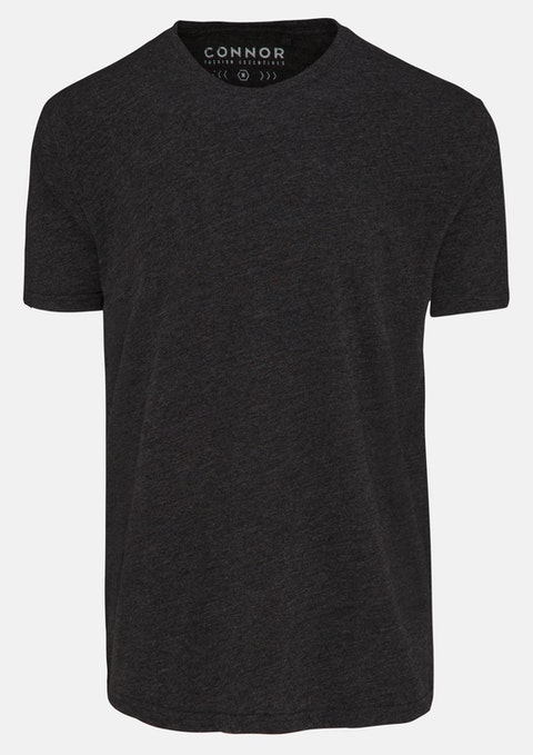 Charcoal Essential Crew Tee