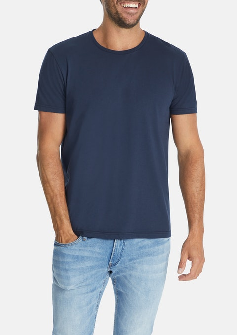 Dark Blue Essential Crew Tee
