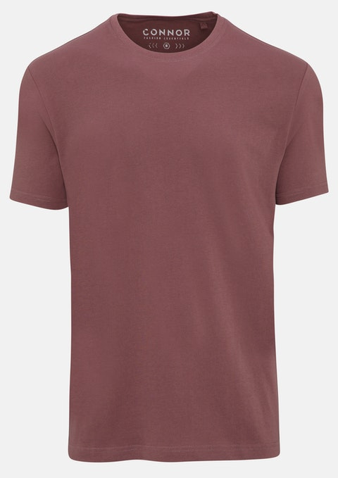 Dusty Pink Essential Crew Tee