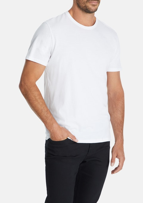 White Essential Crew Tee
