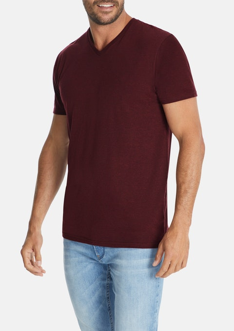 Plum Essential V-neck Tee