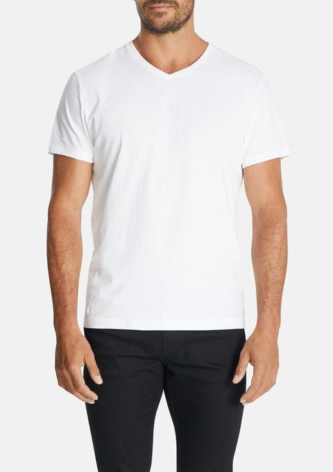 9efb4dca7995 White Essential V Neck Tee by Connor
