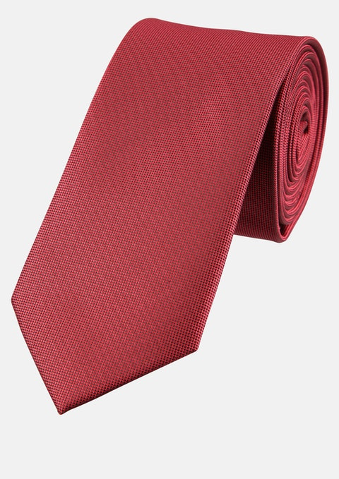 Red Plain 6cm Tie