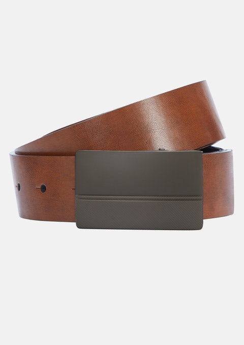 Black Tan Leland Reversible Belt