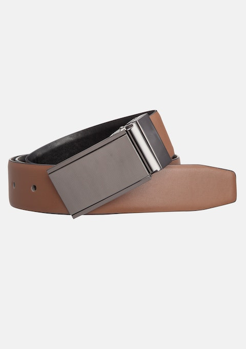 Black Tan Curtis Reversible Belt