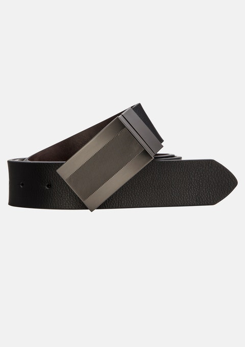 Black Chocolate Santos Reversible Belt