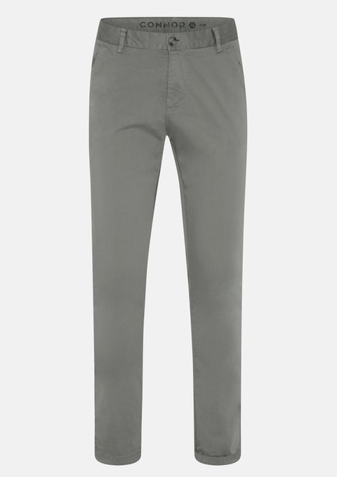 Grey Platinum Slim Stretch Chino
