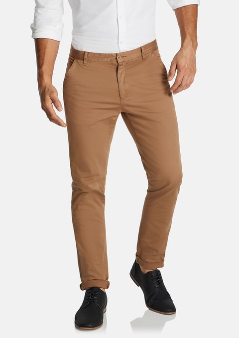 Tobacco Platinum Slim Stretch Chino