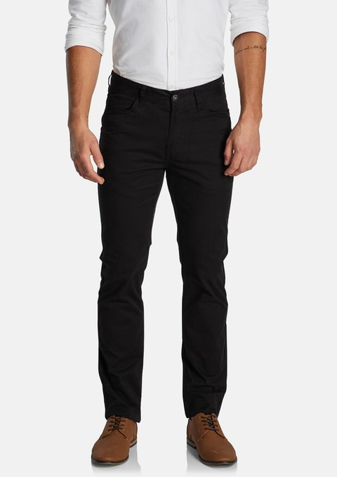 Black Maxfield Stretch Straight Pant