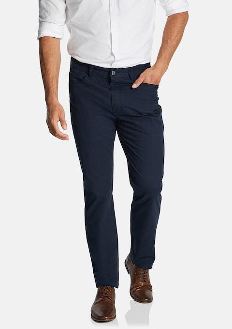 Blue Maxfield Stretch Straight Pant