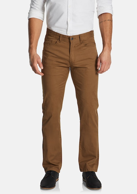 Camel Maxfield Stretch Straight Pant