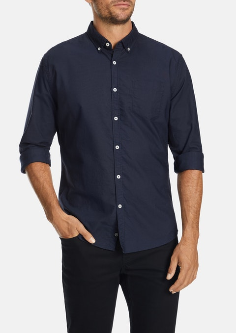 Navy Chapman Slim Casual Shirt