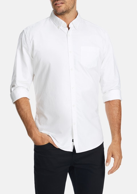 White Chapman Slim Casual Shirt
