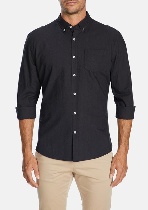 Charcoal Chapman Slim Casual Shirt