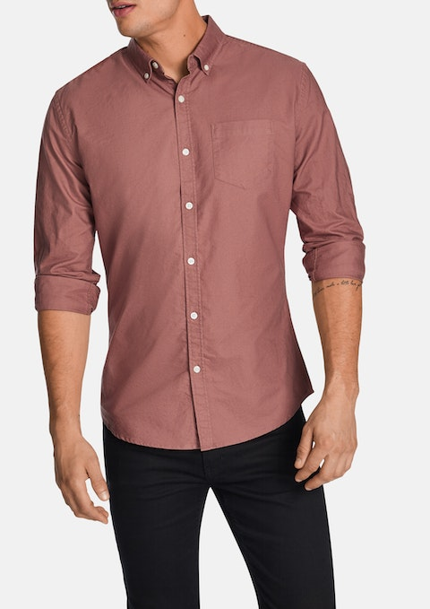 Pink Chapman Slim Casual Shirt