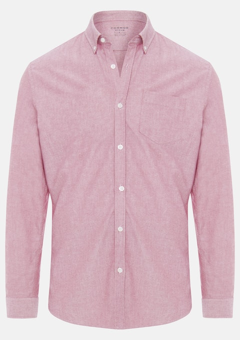 Red Chapman Slim Casual Shirt