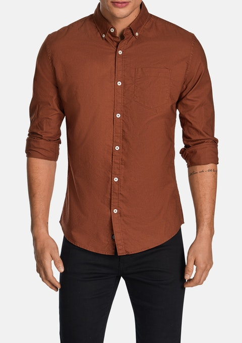 Rust Chapman Slim Casual Shirt