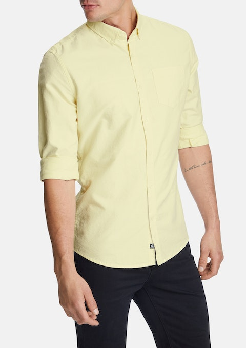 Yellow Chapman Slim Casual Shirt