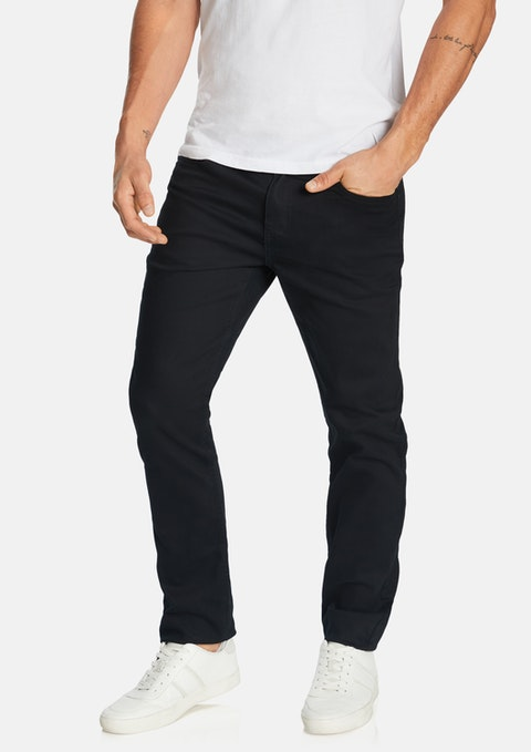 Black Regan Tapered Jean