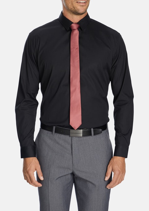Black Cyrus Slim Dress Shirt