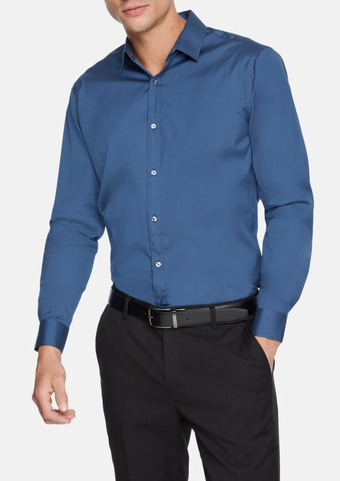 Blue Cyrus Slim Dress Shirt