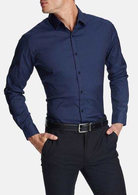 Navy Cyrus Slim Dress Shirt