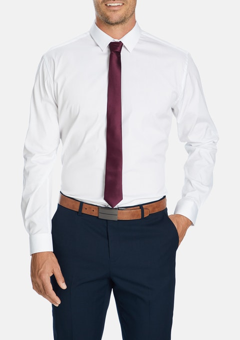 White Cyrus Slim Dress Shirt