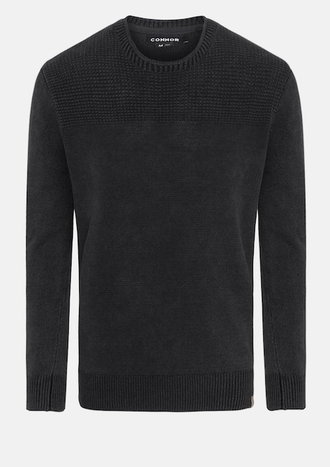 Charcoal Aaron Knit