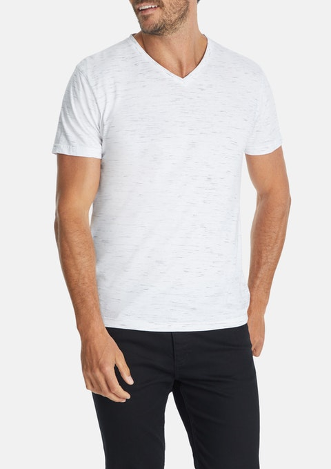 Ice Textured V-neck Tee