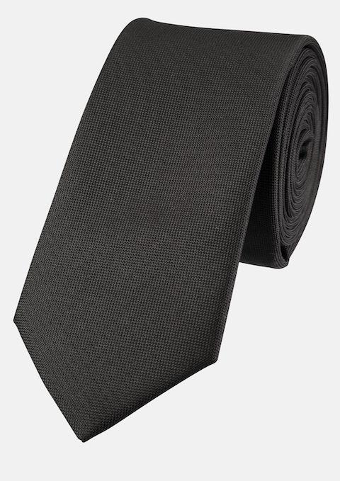 Black Plain 6cm Tie