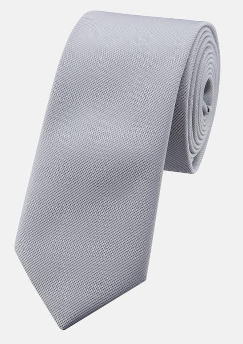 Silver Plain 6cm Tie
