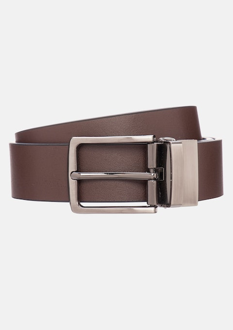 Black Chocolate Newbury Reversible Belt